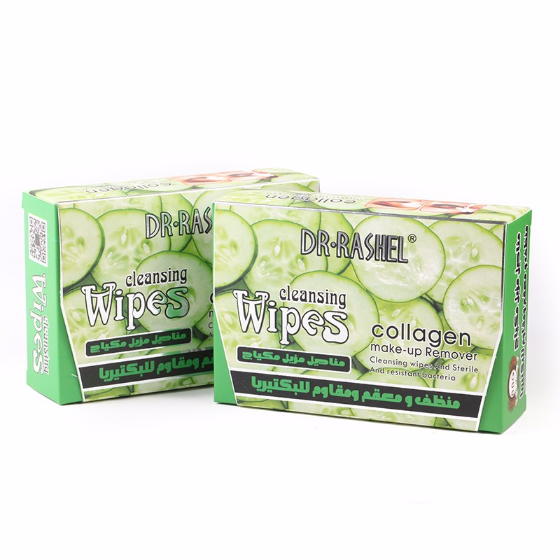 DR.RASHEL Cucumber Collagen Makeup Remover Cleansing wet Wipes