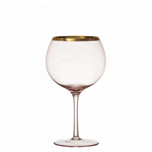 samyo gold rim wine gin glasses for European North American Market