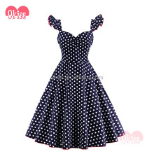 Hot Sexy 50s Vintage Boob Tube Polka Dot Rockabilly Dress
