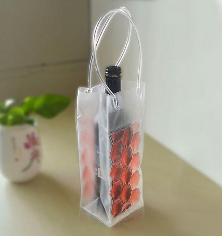 Plastik Şarap Serin Taşıma Çantası Donma Jel Buz Paketi Şişe Kollu/Çanta için Bira Soğutucu