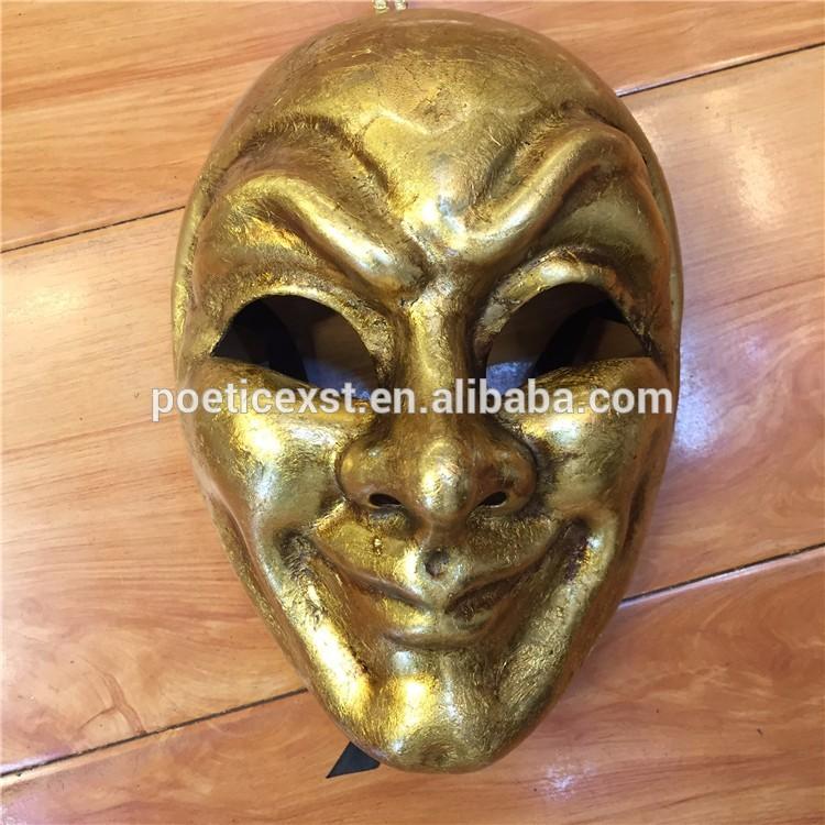 Festive & Party Supplies Pretend Display Dress Up Handmade Full-face Elegant Venetian Comedy Gold Mask
