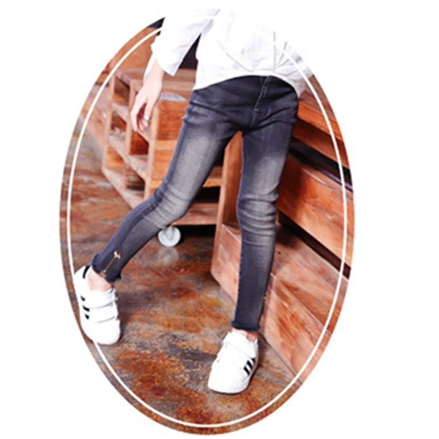 cbdb9cca4c9e2 Get Quotations · Terryws New Girls Denim Pants For Girls Kids Skinny  Stretch Jeans For Girls Spring New Baby