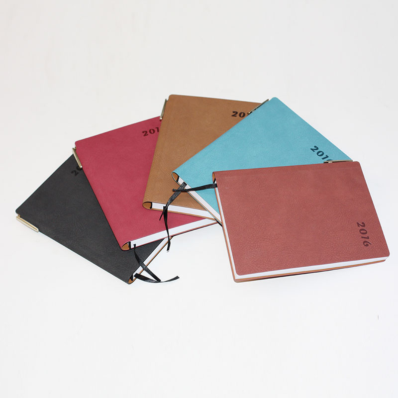 Professional PU leather a5 diary spiral notebook