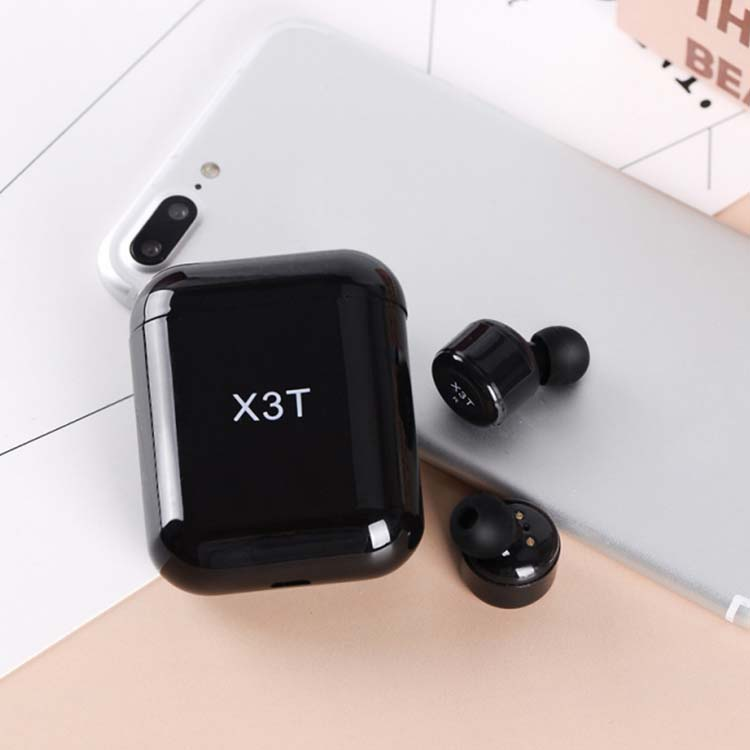 X3T Wireless Blue tooth Earphone Headset wtih Charger Box Bass Stereo Touch Control Earbuds фото