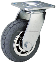 Hotel trolley caster, Heavy duty ball bearing foam wheel caster, luggage carrier truck wheel.
