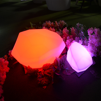 Glowing decorative light LED Lighting/stone garden products/fairy garden fountains