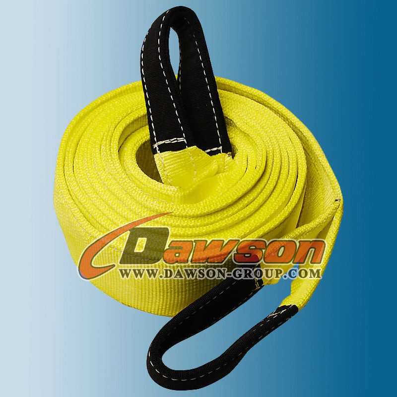 "3"" yellow nylon recovery tow strap belt"