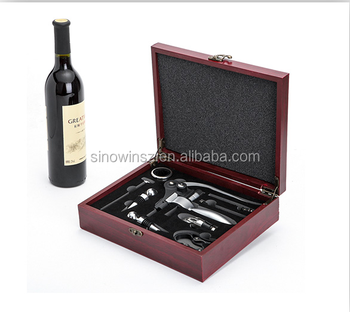 Wine Gift Set Bottle Opener Wine Corkscrew Tools Bar Accessories In Wood Gift Box Buy Wine Bottle Opener Sets Power Tool Accessories Set Wine Tools
