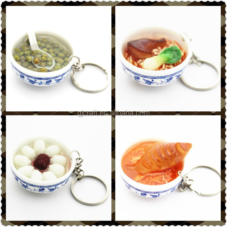Promotional Plastic Injection Mould Mini Artificial High Quality Fake Food In Mini Bowl Design Crafts Display
