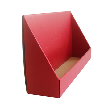 Red color printing corrugated food display box customized