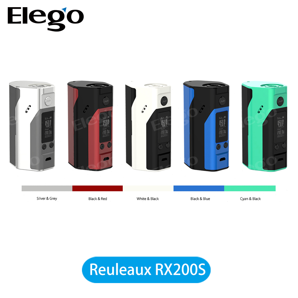 100% Original Wismec Reuleaux RX200S TC Mod nique Outlook of Reuleaux Series Wismec RX200S