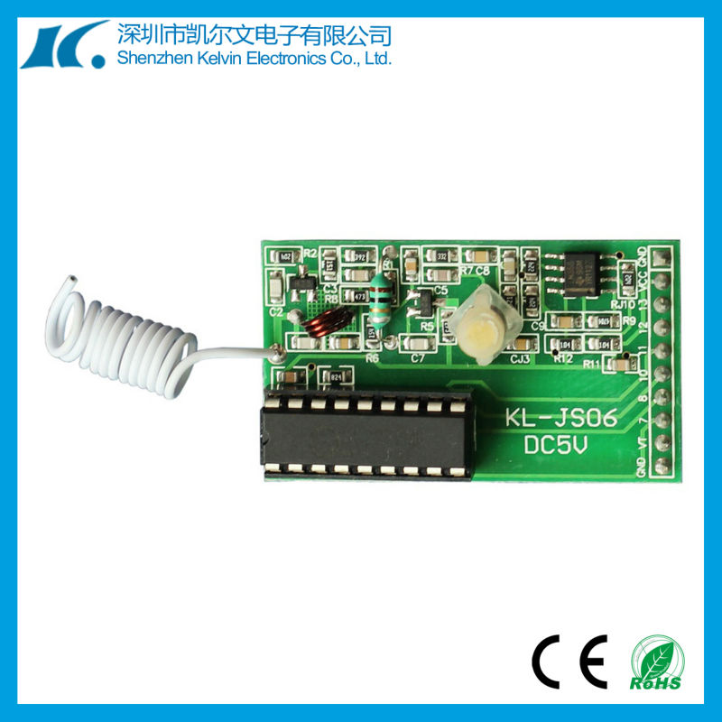 Fixed code/learning code rf 433.92mhz receiver module KL-JS06