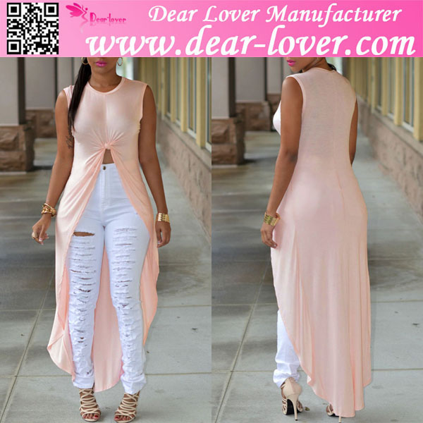 Light Pink Short Front Long Back Fancy Ladies Tops Latest Design ...
