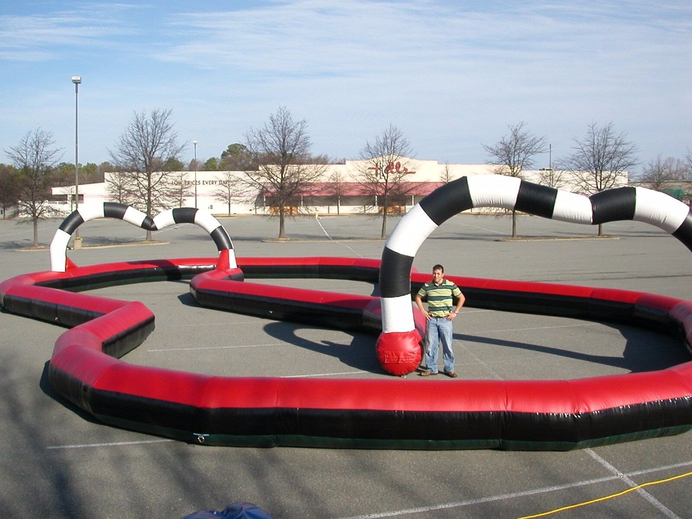 kids inflatable race track mini car racing track inflatable go karts race track for