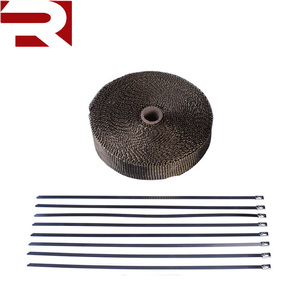 Auto/Motorcycle Titanium Roll Basalt Fiber Cloth Exhaust Header Pipe Insulating Heat Wrap