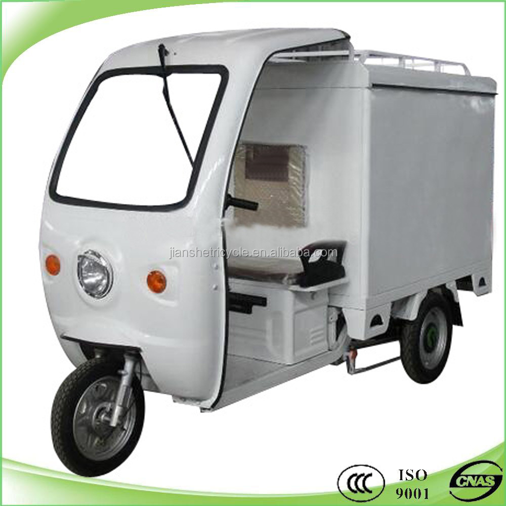 new model 1000w electric cabin tricycle with closed cargo box