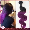 16inch virgin brazilian unprocessed human body wave hair weave brazilian hair weaving bundles wave purple ombre hair