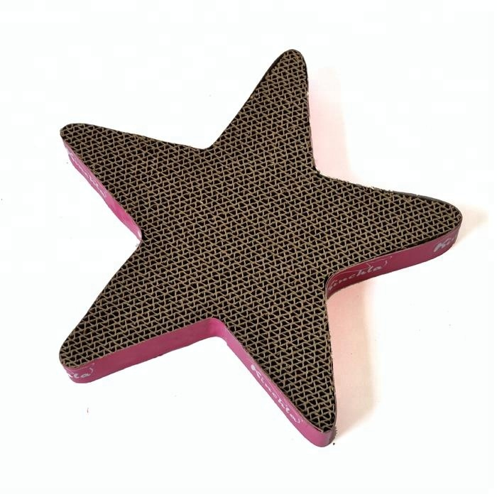cute and lovely cardboard Cat Scratcher with five-pointed star shape