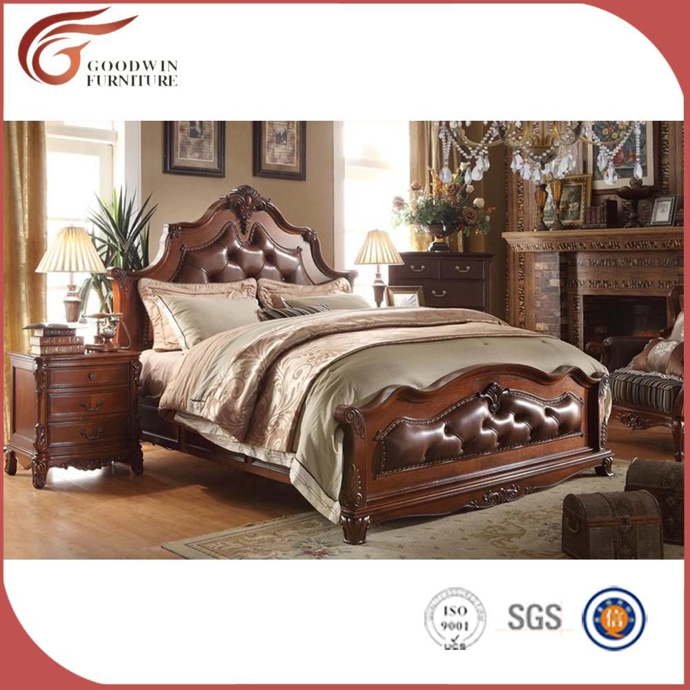 Luxe royale solide meubles de chambre à coucher en bois, classique ...
