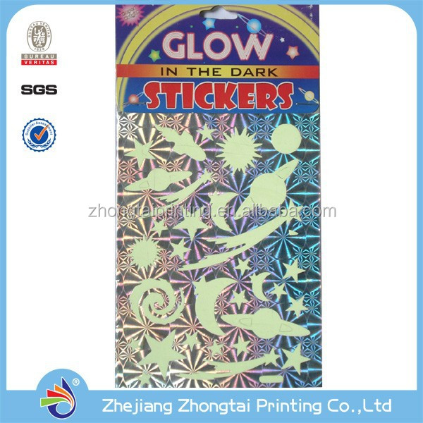 Glow In The Dark Star Sticker in CE, RoHS Standard Used for Concert and Parties