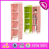 2015 new style book shelves,popular kids wooden book shelves and children wooden four compartment shelves W08C040