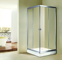 Shower Price 6mm Glass door shower cabin 304 stainless steel cubicle