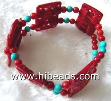 wholesale red coral bracelet jewelry CB00010