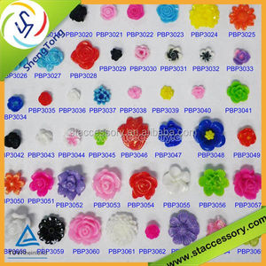 DIY resin flower bead or sticker flower cameo