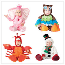 Kids Clothes Fleece Romper Set Baby Boys Girls Jumpsuits Overalls Winter 2016 Animal Cosplay Shapes Halloween