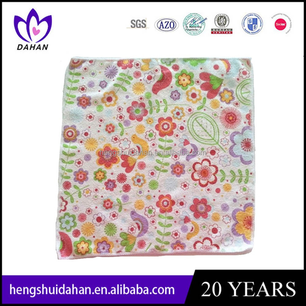 30*30cm flower set microfiber dish cloth home textile cleaning towel China supplier wholesaler