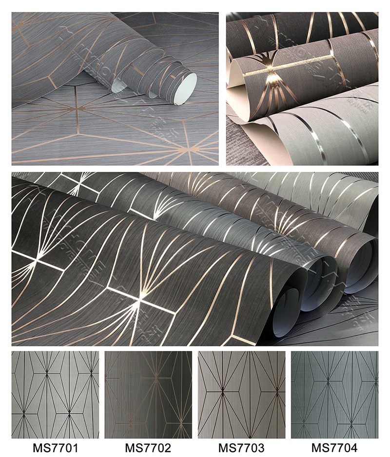 2019 High-end luxury metallic interior wallpaper