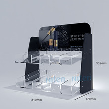 Acrylic tray acrylic e-liquid display stand for mascara