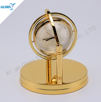 Executive Unique Golden Desk Clock for Business Gift