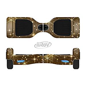 The Golden Glowing Stars Full-Body Wrap Skin Kit for the iiRov HoverBoards and other Scooter (HOVERBOARD NOT INCLUDED)
