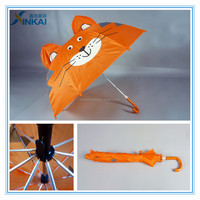 Lovely cat ear shape special kids umbrella with hook handle