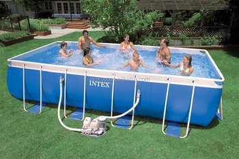 High Quality Rectangle Swimming Pool Intex Above Ground Metal Frame Pool -  Buy Intex Swimming Pool,Intex Above Ground Metal Frame Swimming ...