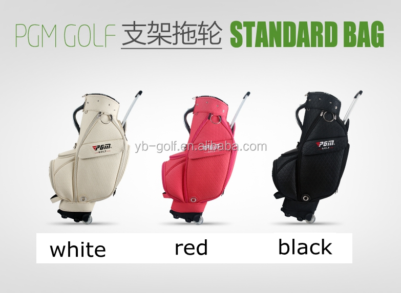 Latest design golf bags with wheels facotry price