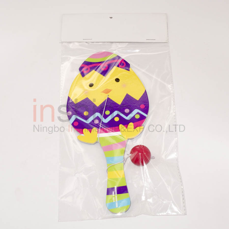 Bunny and chick paddle ball for kids,cheap toy from china