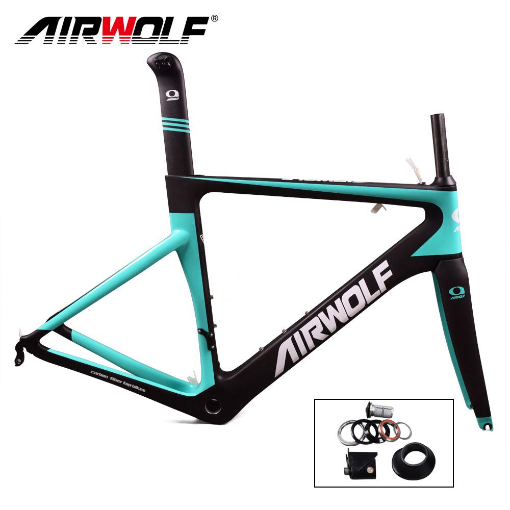 Airwolf carbon road bike frame oem cycling bicycle frameset size 48/51/54/56cm frame carbon bike road