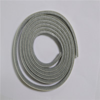 Grey silicone weather strip for door and window seal