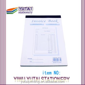 Carbonless Ncr Paper Free Sample Billing Invoice Buy Sample - Buy invoice book
