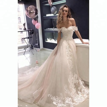 New Off Shoulder Elegant Wedding Bridal Gown Vestido De Noiva ...