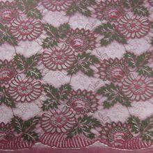 Женская Двухцветная юбка с цветочной вышивкой, Кружевной Тюль ручной работы в нигерийском стиле для платья, ширина 150 см(Китай)
