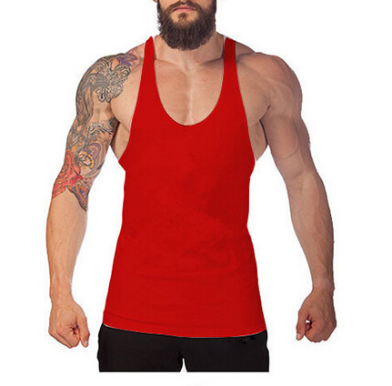 Online shop china mens gym yoga singlet pink wrestling singlet