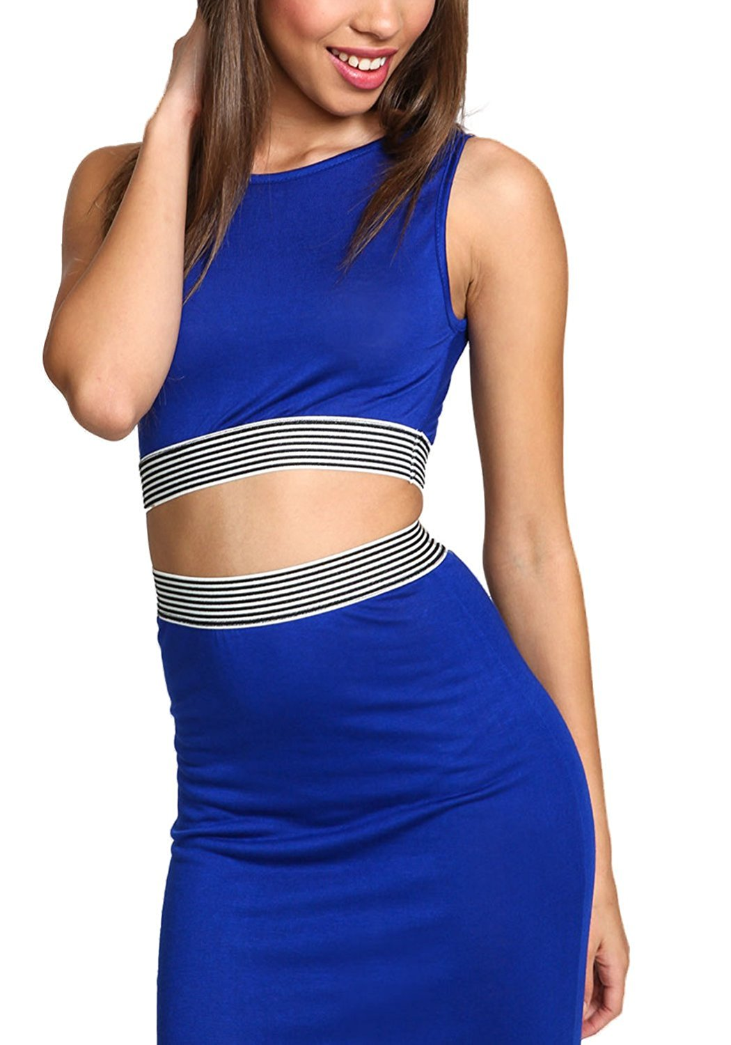 32d74ae68c4 Buy TA3941 Sporty Cut Out Crop Top With Love Printed Junior's ...