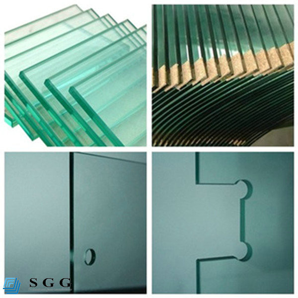 Clear toughened building glass safety heat soaked tempered glass