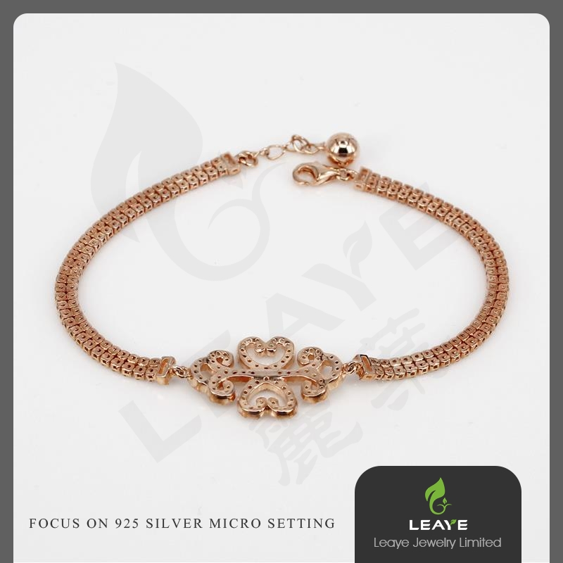 Hot selling accessories for women CZ Micro Setting Swan Heart Bracelets