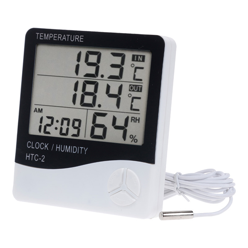LCD Digital Thermometer Hygrometer Meter HTC-2