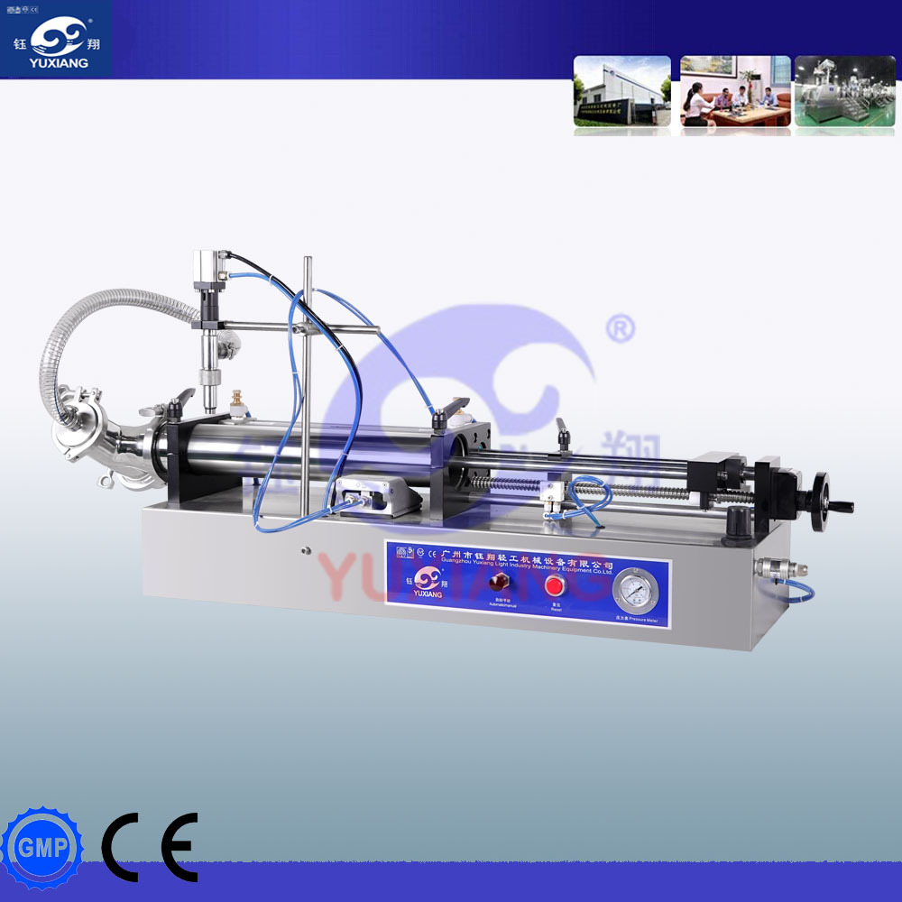 horizontal type pneumatic liquid filling machine for shampoo, liquid detergent etc.