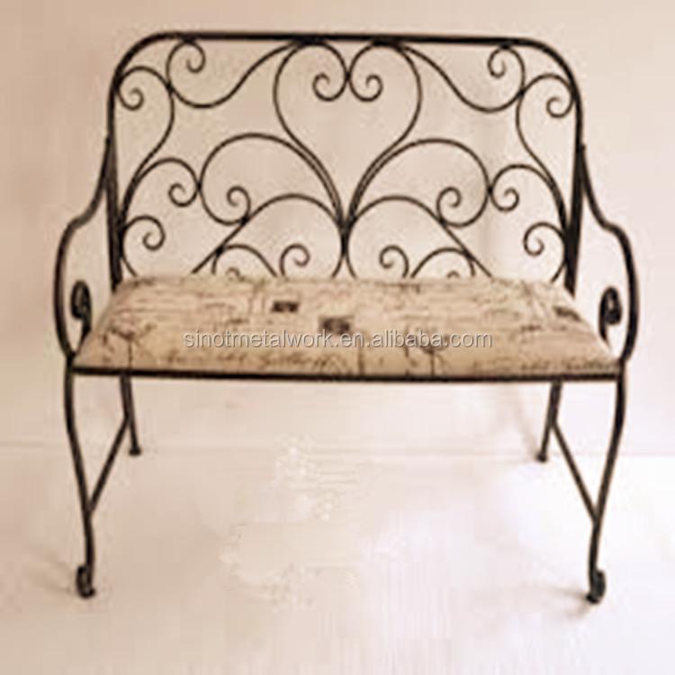 Metalen tuin en huis bench smeedijzeren sofa stoelen vintage staal slaapkamer bench decoratieve - Sofa smeedijzeren ...